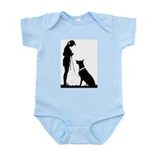 German Shepherd Obedience Infant Bodysuit