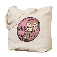 Monkey Girl Tote Bag