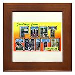 Fort Smith Arkansas Framed Tile