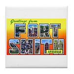 Fort Smith Arkansas Tile Coaster