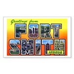 Fort Smith Arkansas Rectangle Sticker