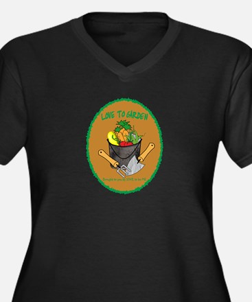 GARDENING - LOVE TO BE ME Women's Plus Size V-Neck