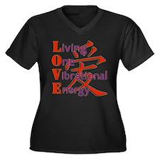 Living, One,Vibrational,Energy Women's Plus Size V