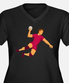 handball player jumping front view Women's Plus Si