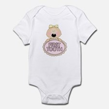 Girl Babys First Tooth Baby Bodysuit