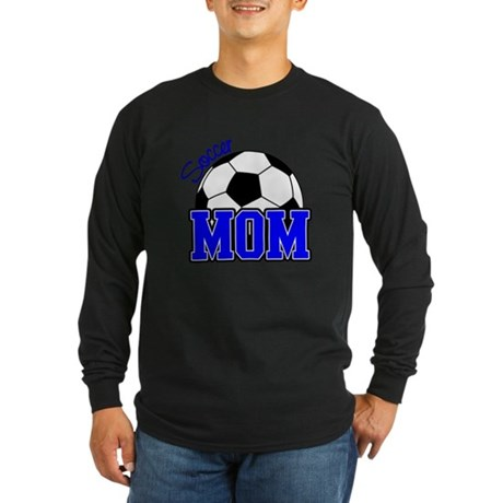Soccer Mom (Blue) Long Sleeve Dark T-Shirt