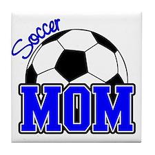 Soccer Mom (Blue) Tile Coaster