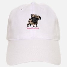 Woman's Best Friend Pug Baseball Baseball Cap