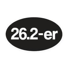26.2-er or Marathoner Oval Car Magnet