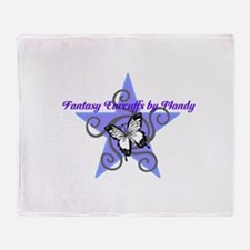 Fantasy Earcuffs Logo Throw Blanket