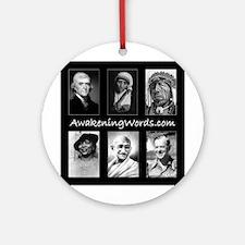 Awakening Words Ornament (Round)