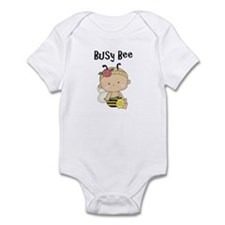Girl's Busy Bee Baby Bodysuit