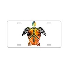 sea turtle-3 Aluminum License Plate