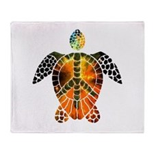 sea turtle-3 Throw Blanket