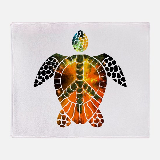 sea turtle-3 Throw Blanket