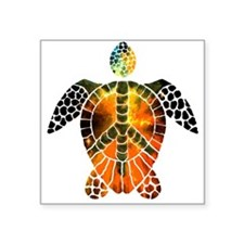"sea turtle-3 Square Sticker 3"" x 3"""