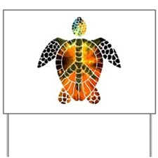 sea turtle-3 Yard Sign