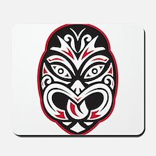 maori tiki moko tattoo mask Mousepad