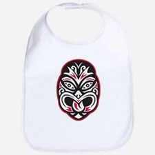 maori tiki moko tattoo mask Bib