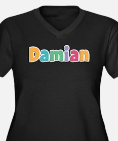 Damian Women's Plus Size V-Neck Dark T-Shirt