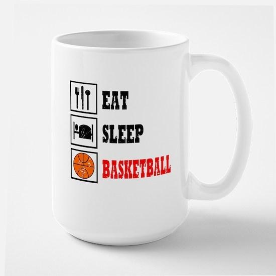 Eat Sleep Basketball Large Mug