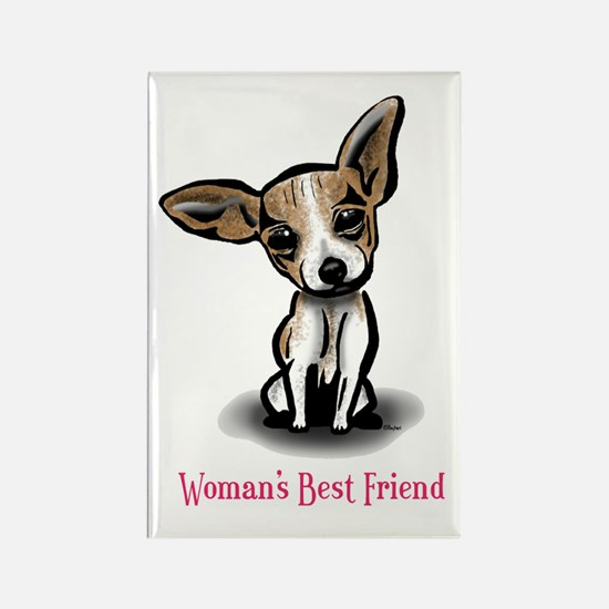 Woman's Best Friend Chihuahua Rectangle Magnet