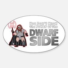 The Dwarf Side Sticker (Oval)