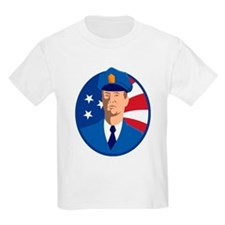 Policeman American stars and stripes shield T-Shirt