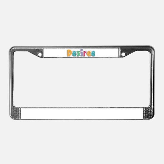 Desiree License Plate Frame