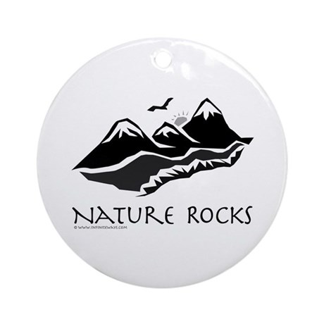 Nature Rocks Mountains Ornament (Round)