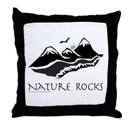 Nature Rocks Mountains Throw Pillow