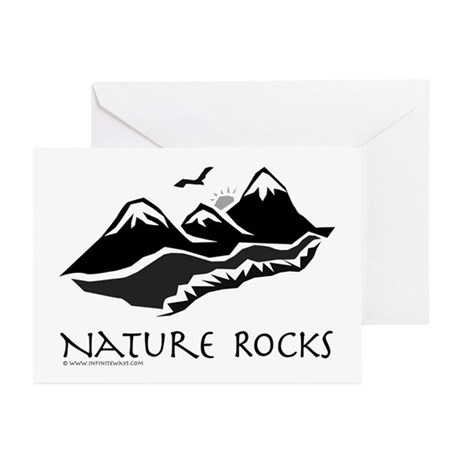 Nature Rocks Mountains Greeting Cards (Package of