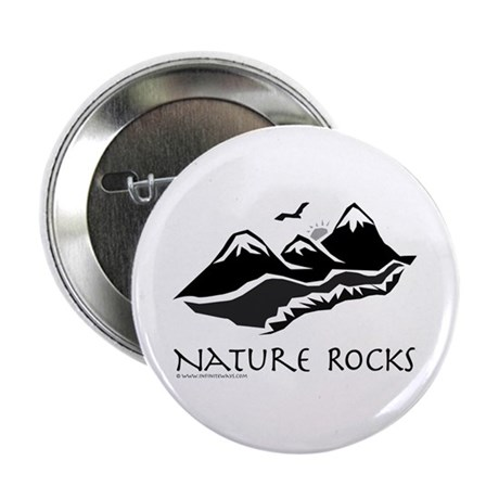 "Nature Rocks Mountains 2.25"" Button (10 pack)"