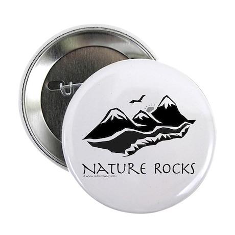 Nature Rocks Mountains Button
