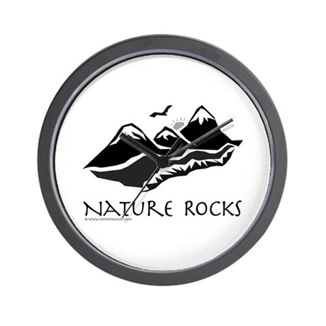 Nature Rocks Mountains Wall Clock