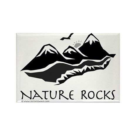 Nature Rocks Mountains Rectangle Magnet (100 pack)