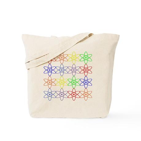 Nuclear nuke atom reactor rainbow Tote Bag