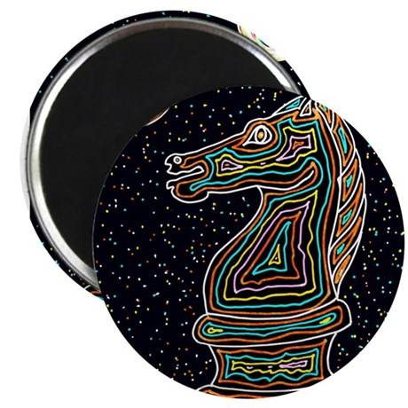"Neon Knight 2.25"" Magnet (10 pack)"