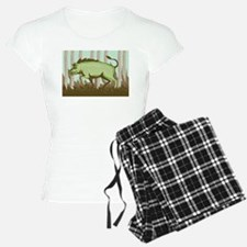 Razorback Wild Pig Boar Attacking Pajamas