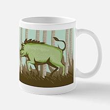 Razorback Wild Pig Boar Attacking Mug