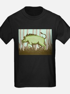 Razorback Wild Pig Boar Attacking T