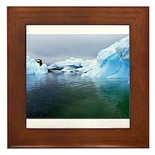 Antarctica Water! Iceberg Framed Tile