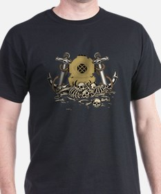 dive helmet and skulls T-Shirt