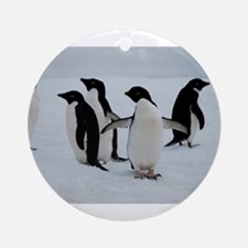 Adelie Penguin in Antarctica Ornament (Round)