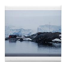 Port Lockroy Antarctica Tile Coaster