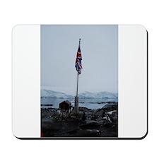 British flag at Port Lockroy Antarctica Mousepad