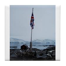 British flag at Port Lockroy Antarctica Tile Coast