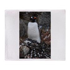 Gentoo Penguin at Port Lockroy Throw Blanket