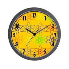colorful rainbow nuclear wall clock Wall Clock
