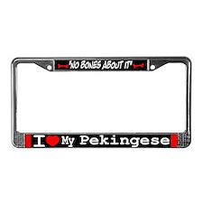 Pekingese Gifts License Plate Frame